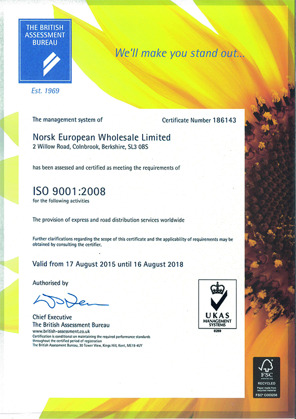 ISO Accredited - ISO 14001
