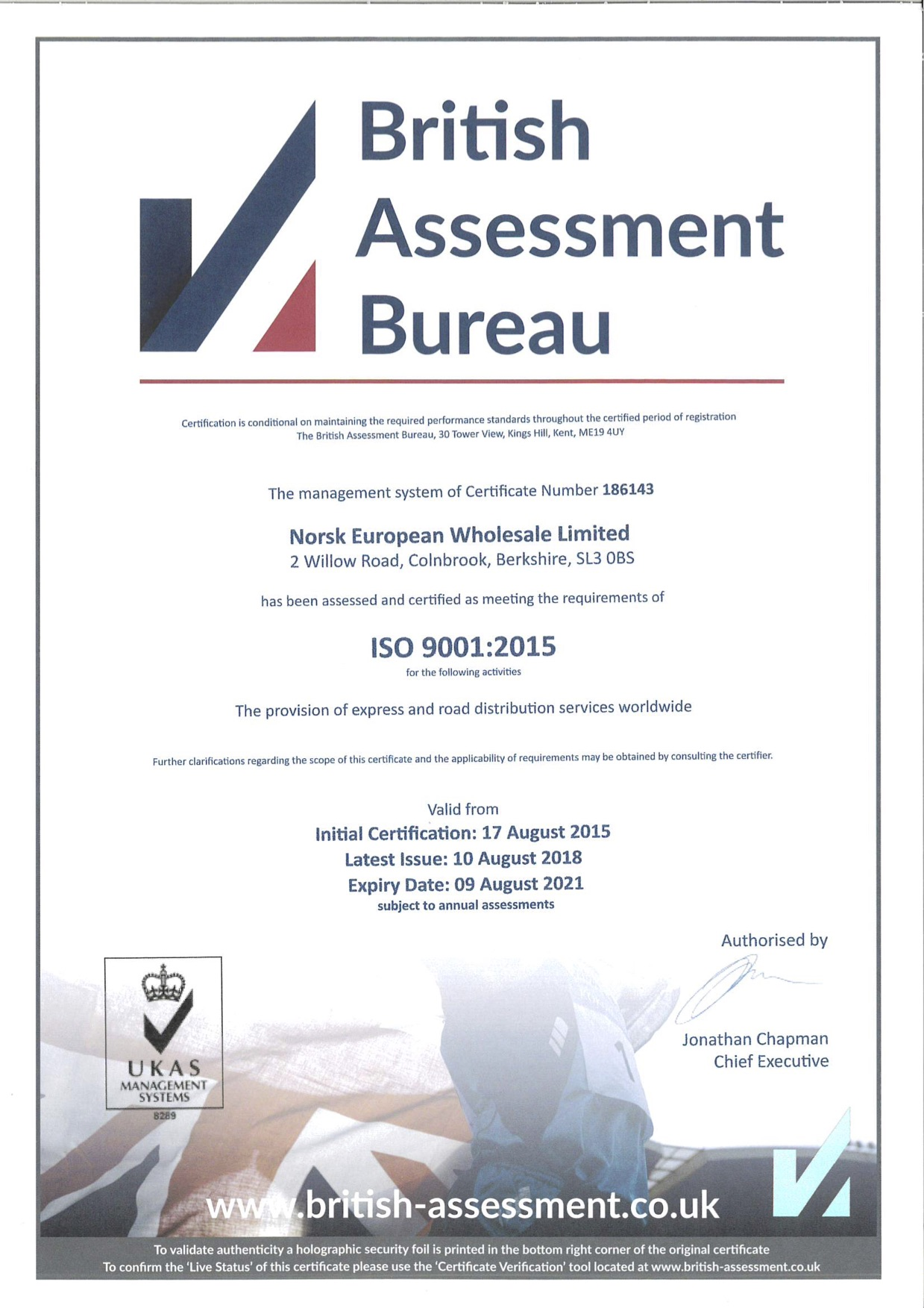 ISO Accredited - ISO 9001